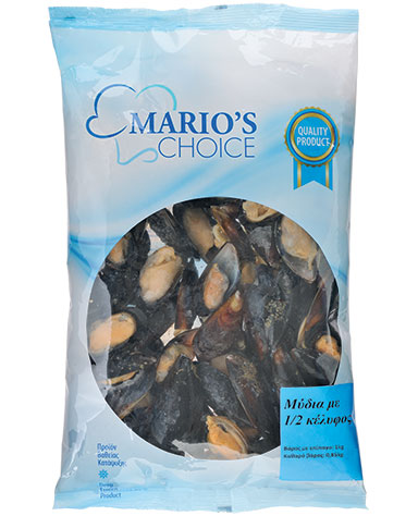 MUSSELS 1/2 SHELL PILLOW PACK (1Kg)