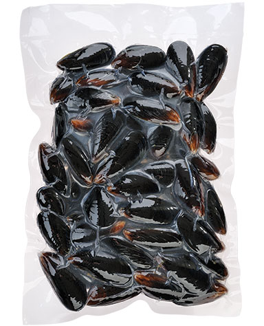 WHOLE MUSSEL PRE-COOKED VACUUM PACK (1Kg)