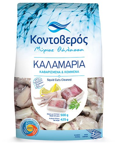 SQUID GUTTED & CUT (500g) - 2